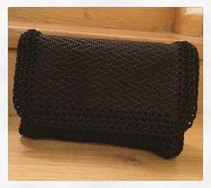Handmade crochet leather flap bag by Urban Queen