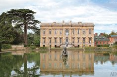 The east façade of Easton Neston, in Northamptonshire, England. The 1702 house is owned by fashion designer Leon Max.