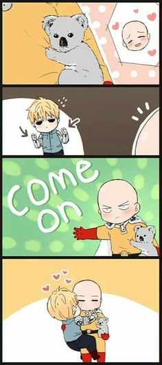 i'm not a fan of genos x saitama but this is really cute