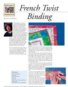 French Twist Binding