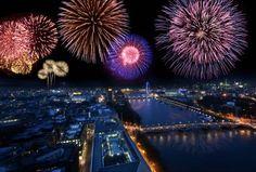 Una noche de fuegos artificiales en Londres, qué más se puede pedir?
