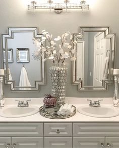 Bathroom Decor spa ideas home decored bathroom spa Bathroom Spa, Bathroom Interior, Bathroom Ideas, Master Bathroom, Bathroom Organization, Small Bathroom, Elegant Bathroom Decor, Bathroom Counter Decor, Disney Bathroom