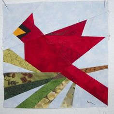 Free Cardinal Patterns | Cardinal Pattern // originally in a McCall' s Quilting magazine.