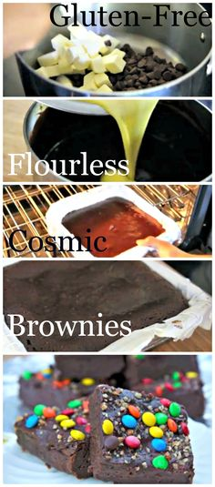 Hard to resist Gluten-Free Flourless Cosmic Brownies. Click to watch the #recipe video.