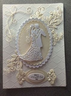 Wedding card ideas hand made 62 Ideas day cards Wedding card ideas hand made 62 Ideas Wedding Day Cards, Wedding Shower Cards, Wedding Cards Handmade, Wedding Gifts For Bride, Wedding Anniversary Cards, Greeting Cards Handmade, Trendy Wedding, Tattered Lace Cards, Engagement Cards