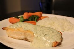 Salmon with Maple Dill Sauce