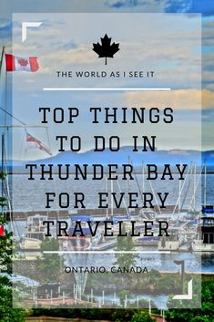 Thunder Bay is a Northern Ontario gem. Discover the top things to do in Thunder Bay for every traveller. From hiking to waterfalls and a fabulous food and art scene, visit Thunder Bay and explore it all! Ontario City, Ontario Travel, Alberta Canada, Canada Canada, Canada Trip, Visit Canada, Thunder Bay Canada, Toronto, Quebec