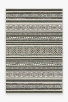 Our Nira Charcoal Rug takes inspiration from mehndi, an ancient form of body art using henna. The repeating pattern of intricate paisley designs, tinted in smoke grey and cream, lends a tribal-boho feel to your home. Grey Rugs, Black Rugs, 5x7 Rugs, Turquoise Rug, Machine Washable Rugs, Natural Rug, Tribal Rug