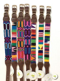Dog Collar Leather Mexican Texil by Bocollarsandleashes