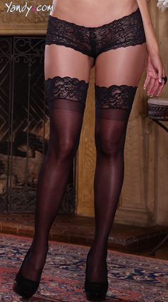 One size - black, white or nude -  Plus Size Sheer Thigh High with Stay up Silicone Lace Top, Plus Size Sheer Thigh High Stockings