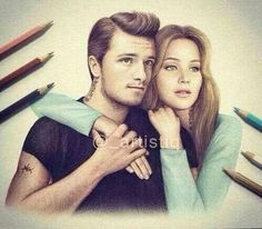 Drawing of josh and jen ... best friends