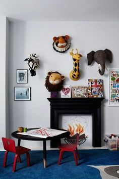 Stuffed Animal Heads – Kids Bedroom Ideas (houseandgarden.co.uk) / Get started on liberating your interior design at Decoraid (decoraid.com)