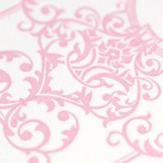 letterpress beauty #wedding #invitation #vintage #inspired #design #whimsical #pink #elements #letterpress #cottonpaper #details #zorie #zoriestyle #zorieinvitations http://instagram.com/zoriedesign www.zorie.com