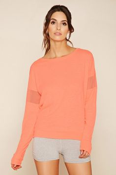 Active Mesh-Paneled Top | Forever 21 - 2000202700