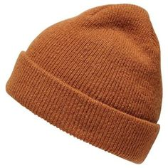 Glazed Ginger Wool Beanie ($30) ❤ liked on Polyvore featuring men's fashion, men's accessories, men's hats, mens beanie hats and mens wool hats