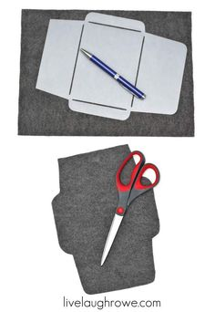 Trace and Cut Felt Envelope