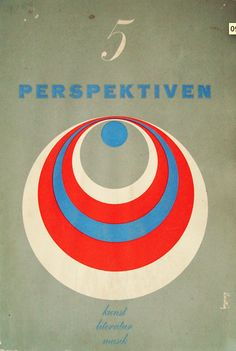 Graphic Design by Alvin Lustig, 1952-1953, Perspektiven 5.