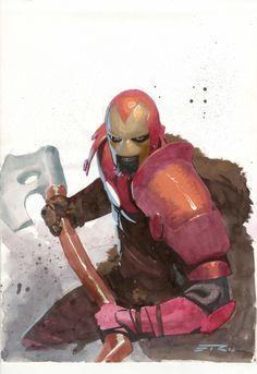 Medieval Iron Man by Esad Ribic