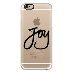 iPhone 6 Plus/6/5/5s/5c Case - Joy (Black Writing) (Holidays,... ($40) ❤ liked on Polyvore featuring accessories, tech accessories, cases, iphone case, slim iphone case, iphone cover case, black iphone case and apple iphone cases