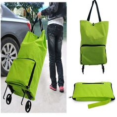 Folding-Foldable-Shopping-Trolley-Bag-Cart-Rolling-Wheel-Grocery-Tote-Handbag