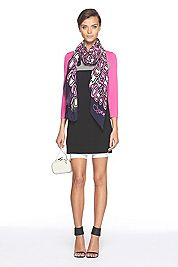 Navy/Pink DVF-perfect combination.