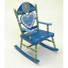 """Boys  Time Out Rocker by Levels of Discovery Includes special message for the child: """"Time out to think about the things you do, but always remember, I love you"""