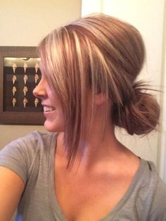 Blonde hair with red. Highlights…