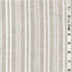 Ecru/Natural Stripe Linen