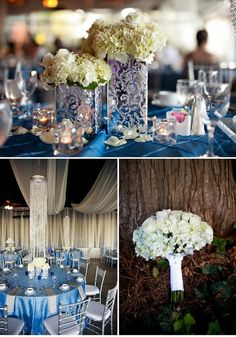 blue and silver wedding...I think these are my wedding colors <3