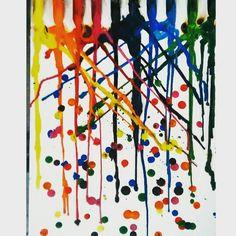 Lluvia de cera - derritiendo crayones