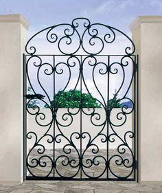 DOORS.005 SCOTTSDALE ART FACTORY: Ornamental Gate - Wrought Iron 17th Cen England -1453IG