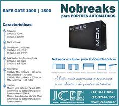 J C E E - Junior Carvalho Elétrica Eletrônica: Nobreak para Portões Automáticos