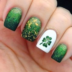 15 Exemple Green And Festive St.Patrick�s Day Nail Designs