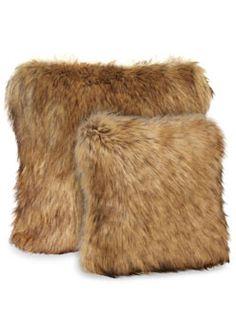 Tipped Fox Faux Fur Pillows