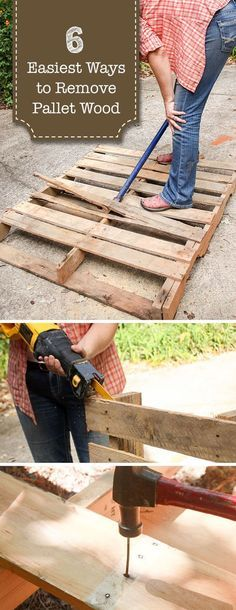 6 of the Easiest Ways to Remove Pallet Wood #palletwood #palletprojects #DIY