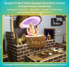 Ganesh Patil Page on Ganpati.TV where all Ganpati festival decoration pictures and videos are shared. Prom Decor, Home Wedding Decorations, Diwali Decorations, Festival Decorations, Ganpati Decoration Theme, Thali Decoration Ideas, Ganapati Decoration, Decorating With Pictures, Decoration Pictures