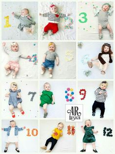 Monthly Baby Photo First Year Stats Baby monthly photos. Baby's first year by month. Monthly Baby Photos, Baby Monthly Milestones, Newborn Baby Photos, Baby Boy Photos, Baby Pictures, One Month Baby, Babies First Year, Emma Bebe, Foto Baby
