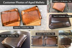 Mens Leather Wallet Personalized Wallet Thin Leather Wallet