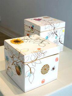 Heidi Hirengen Replay Collection boxes ceramics decals art exhibition