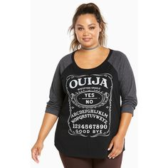 350bffbb058be Ouija Board Raglan Tee in Black