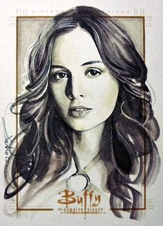 Eliza Dushku as Faith licensed artwork with Fox and likeness approved by Eliza Dushku for Buffy The Vampire Slayer Ultimate Collector's Set (series 2) release 2/22/2017 by Rittenhouse Archives scif...