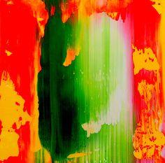 Zé Luiz Morais. Abstrata, oil on paper 5x5 cm, catálogo: AbstOilPap45MartiusXVII. Técnica estratigráfica: camadas de tinta sobrepostas, aplicadas em bandas verticais e horizontais, esfregadas, borradas e raspadas; acabamento da superfície: textura lisa. Instrumento: espátula.