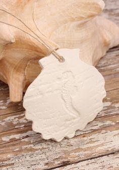 Coastal Christmas Ornaments White Clay Seaside Decor s
