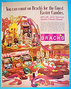 1970s easter | 1970 Brach's Candy with Easter Candies & Bunny (Candy/Nuts) at Ads By ...