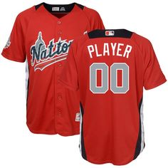 1ce4f0485 National League Majestic Youth 2018 MLB All-Star Game Home Run Derby Custom  Jersey – Scarlet