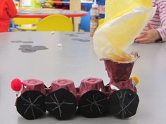 Egg carton train.. self explanatory!  Our preschoolers loved it!