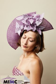 Not a Wallflower, Catherine Storm's entry in 2019 Melbourne International Millinery Competition (MIMC) Fascinator, Headpiece, Spring Racing, Melbourne, Special Occasion, Competition, Elegant, Unique, Color