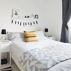 White and grey bedroom| Bedroom decoration | Ideal Home | Housetohome.co.uk
