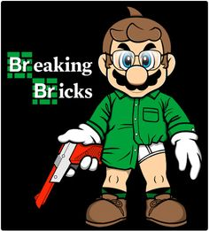 Shirtbattle - Breaking Bricks - Mario - Breaking Bad tshirt