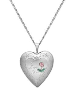 I Love Your Heart Locket Necklace in Sterling Silver